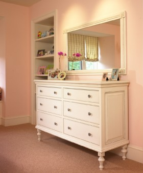 Bureau and Matching Mirror